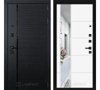 Двери Лабиринт входные двери Лабиринт Пиано с зеркалом 19 - Белый софт(dveri labirint piano)