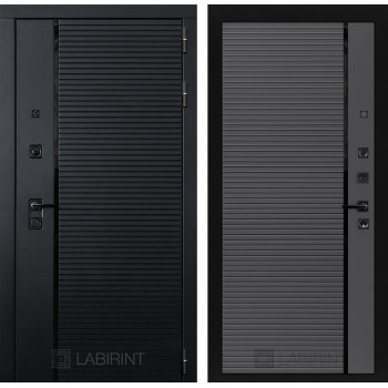 Входная дверь PIANO 22 - Графит софт, черная вставка