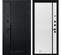 Входная дверь PIANO 22 - Белый софт, черная вставка