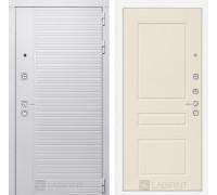 Входная дверь PIANO WHITE 03 - Крем софт