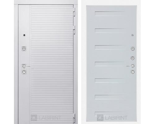 Входная дверь PIANO WHITE 14 - Дуб кантри белый горизонтальный