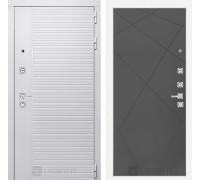 Входная дверь PIANO WHITE 24 - Графит софт