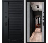 Двери Лабиринт входные двери Лабиринт Пиано с зеркалом Максимум - Бетон светлый(dveri labirint piano)