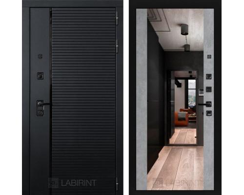 Входная дверь PIANO с зеркалом Максимум - Бетон светлый