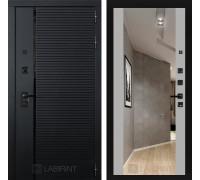 Входная дверь PIANO с зеркалом Максимум - Грей софт