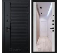 Входная дверь PIANO с зеркалом Максимум - Сандал белый