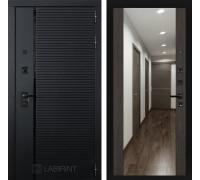 Двери Лабиринт входные двери Лабиринт Пиано с зеркалом Максимум - Венге(dveri labirint piano)
