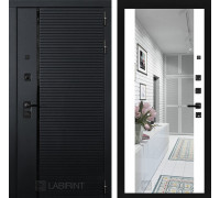 Входная дверь PIANO с зеркалом Максимум - Белый софт