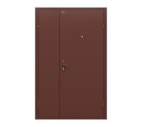 Тамбурная металлическая дверь Дуо Слим Антик Медь/Антик Медь (двери в тамбур)
