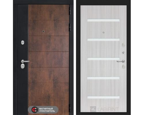 Входная дверь ТЕХНО 01 - Сандал, стекло белое