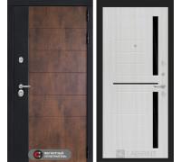 Входная дверь ТЕХНО 02 - Сандал, стекло черное