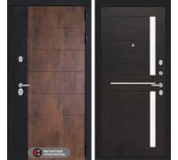 Входная дверь ТЕХНО 02 - Венге, стекло белое