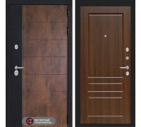 Входная дверь ТЕХНО 03 - Орех бренди