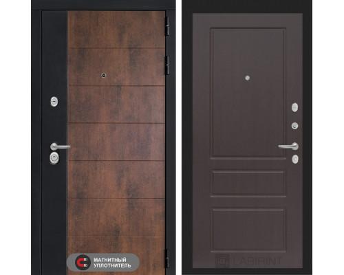 Входная дверь ТЕХНО 03 - Орех премиум