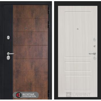 Входная дверь ТЕХНО 03 - Сандал белый