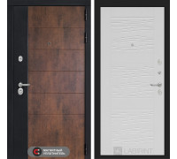Входная дверь ТЕХНО 06 - Белое дерево