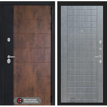 Входная дверь ТЕХНО 09 - Лен сильвер грей