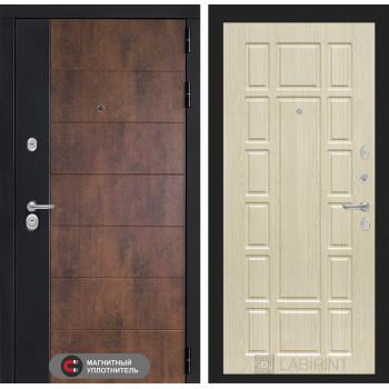 Входная дверь ТЕХНО 12 - Беленый дуб