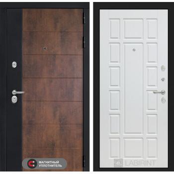 Входная дверь ТЕХНО 12 - Белое дерево