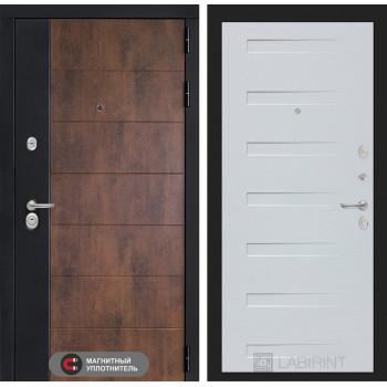 Входная дверь ТЕХНО 14 - Дуб кантри белый горизонтальный