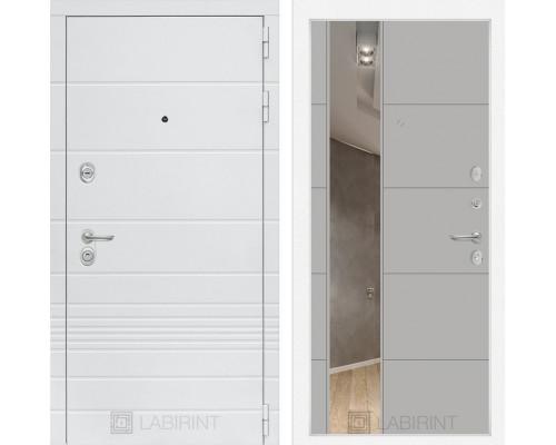 Входная дверь Labirint Трендо с Зеркалом 19 Грей софт