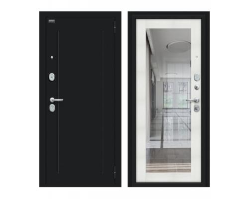 Входная дверь Браво/Dveri Bravo/Флэш 119.Б15 Букле черное/Bianco Veralinga, двери браво