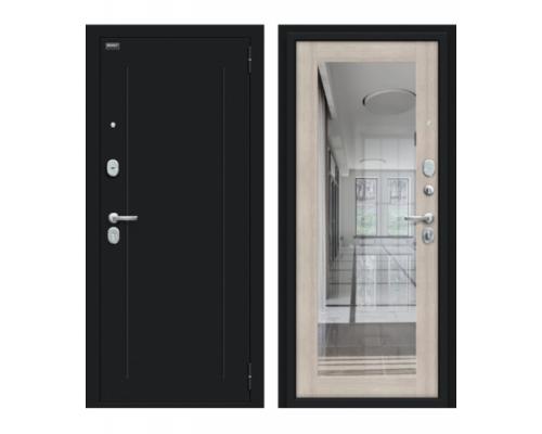 Входная дверь Браво/Dveri Bravo/Флэш 119.Б15 Букле черное/Cappuccino Veralinga, двери браво