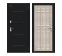 Входная дверь Браво/Dveri Bravo/Мило 104.52 Букле черное/Cappuccino Veralinga, двери браво