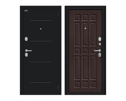 Входная дверь Браво/Dveri Bravo/Мило 104.52 Букле черное/Wenge Veralinga, двери браво