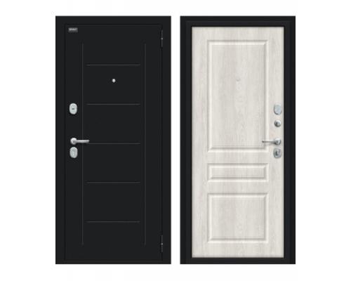 Входная дверь Браво/Dveri Bravo/Пик 117.С14 Букле черное/Casablanca, двери браво