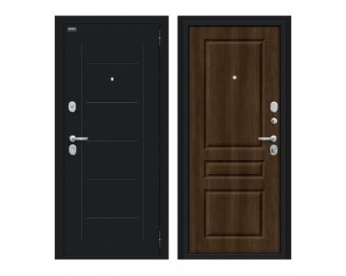 Входная дверь Браво/Dveri Bravo/Пик 117.С14 Букле черное/Dark Barnwood, двери браво