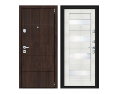 Входная дверь Браво Dveri Bravo Porta M 4.П23 Almon 28/Bianco Veral двери браво