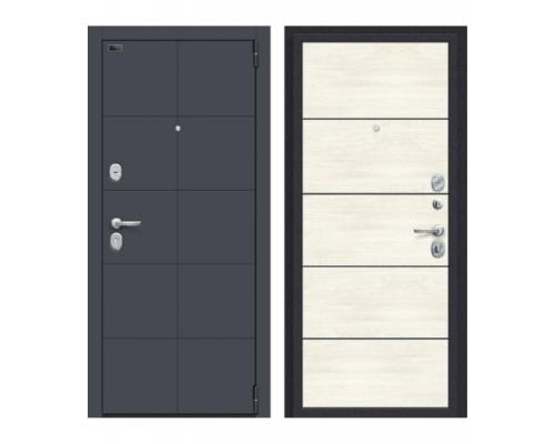 Входная дверь Браво Porta S 10.П50 Graphite Pro/Nordic Oak