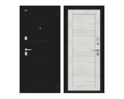 Входная дверь Браво/Dveri Bravo/Техно Kale Букле черное/Bianco Veralinga, двери браво