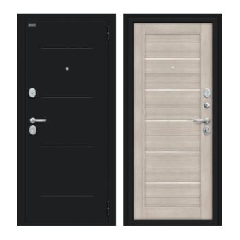Входная дверь Браво/Dveri Bravo/Техно Kale Букле черное/Cappuccino Veralinga, двери браво