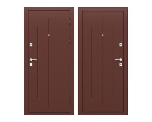 Входная металлическая дверь Браво Стройгост 7-2 Антик Медь/Антик Медь