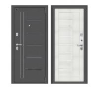 Входная дверь Браво Porta S 109.П29 Антик Серебро/Bianco Veralinga