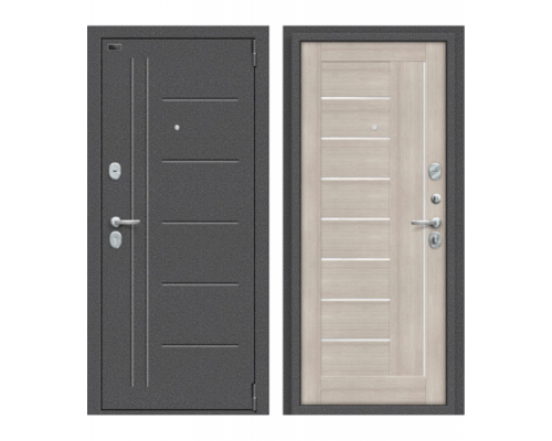 Входная дверь Браво Porta S 109.П29 Антик Серебро/Cappuccino Veralinga