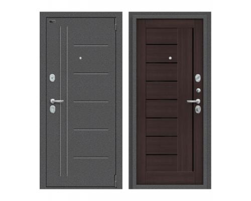 Входная дверь Браво Porta S 109.П29 Антик Серебро/Wenge Veralinga
