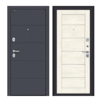 Входная дверь Браво Porta S 4.Л22 Graphite Pro/Nordic Oak