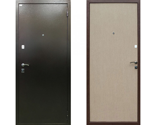 Дверь входная стальная Ратибор Форт (Цвет Беленый Дуб)