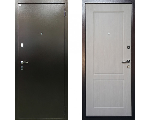 Дверь входная металлическая Ратибор Форт Люкс Капучино