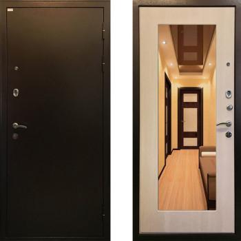 Металлическая дверь Ратибор Милан с зеркалом ЭкоДуб
