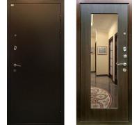 Входная дверь Ратибор Милан с зеркалом (Цвет ЭкоВенге)
