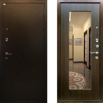 Металлическая дверь Ратибор Милан с зеркалом ЭкоВенге