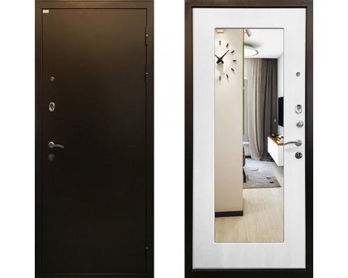 Входная дверь Ратибор Милан с зеркалом (Цвет Белый Ясень)