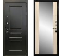 Металлическая дверь Ратибор Монолит с зеркалом (цвет Сандал Белый)