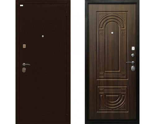 Дверь входная металлическая Ратибор Оптима 3К (Цвет Орех Бренди)
