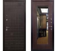 Металлическая дверь Ратибор Силуэт 3К с зеркалом (цвет Венге)