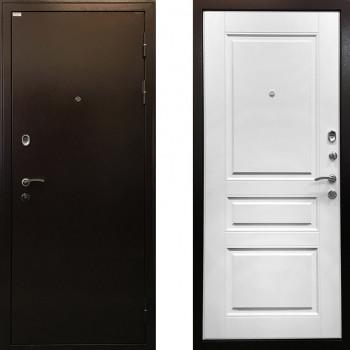 Металлическая дверь Ратибор Статус (Цвет Белый Ясень)